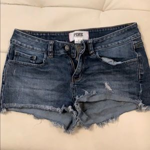 Victoria's Secret PINK denim jean shorts